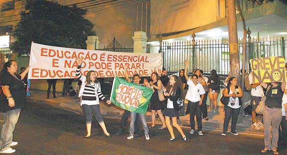 protesto no CPII Humaitá